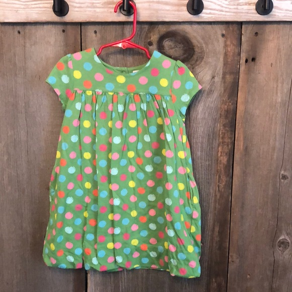 Gap Green Dot Bubble Dress Pockets 4 Years Toddler